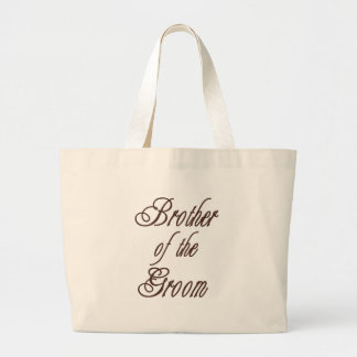 Groom's Brother Classy Browns Large Tote Bag