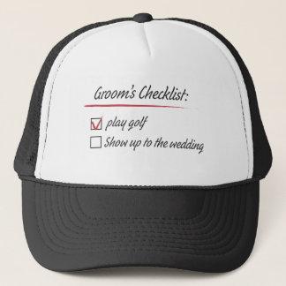 Grooms check list trucker hat