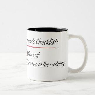 Groom's Checklist Coffee Mugs
