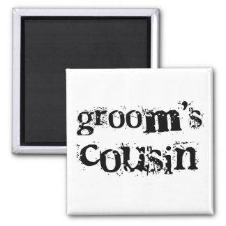 Groom's Cousin Black Text Fridge Magnets