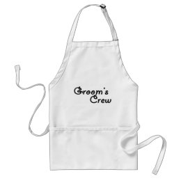 Groom's Crew Adult Apron
