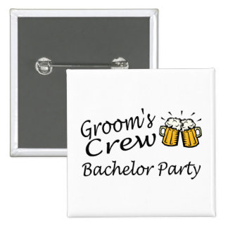 Grooms Crew Bachelor Party Buttons