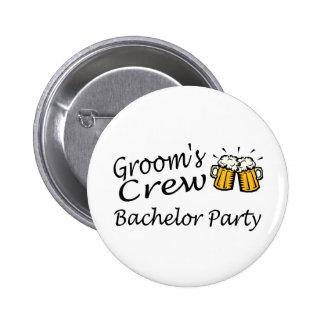 Grooms Crew (Bachelor Party) Button
