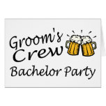 Grooms Crew (Bachelor Party) Greeting Cards