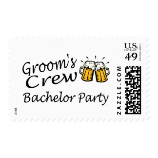 Grooms Crew (Bachelor Party) Postage Stamp
