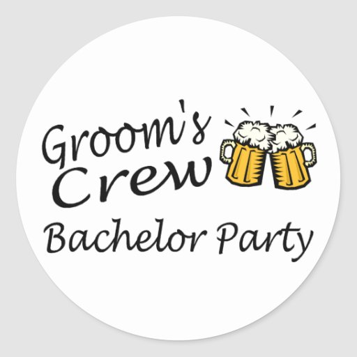 Grooms Crew (Bachelor Party) Stickers