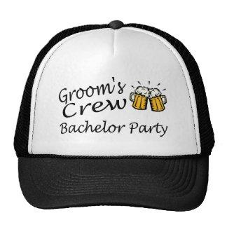 Grooms Crew Bachelor Party Trucker Hat