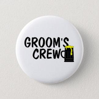Grooms Crew (Beer) Button