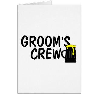 Grooms Crew Beer Greeting Card