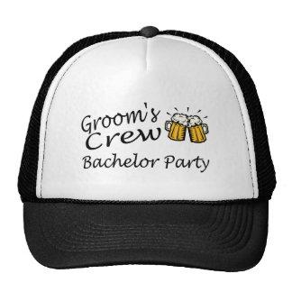 Grooms Crew Beer Jugs Trucker Hat