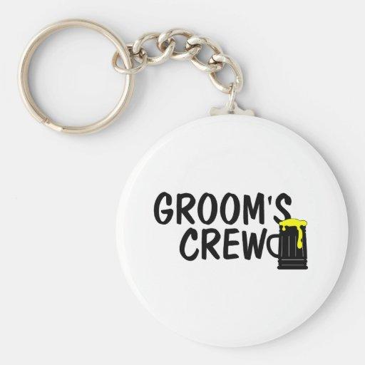 Grooms Crew Beer Key Chain