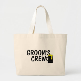 Grooms Crew Beer Large Tote Bag