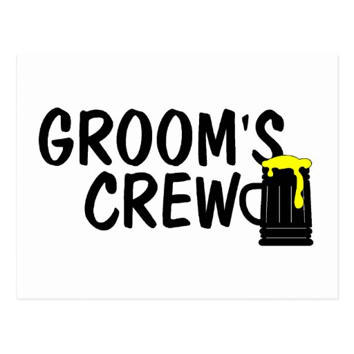 Grooms Crew Beer Postcards