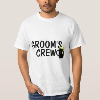 Grooms Crew Beer T Shirt