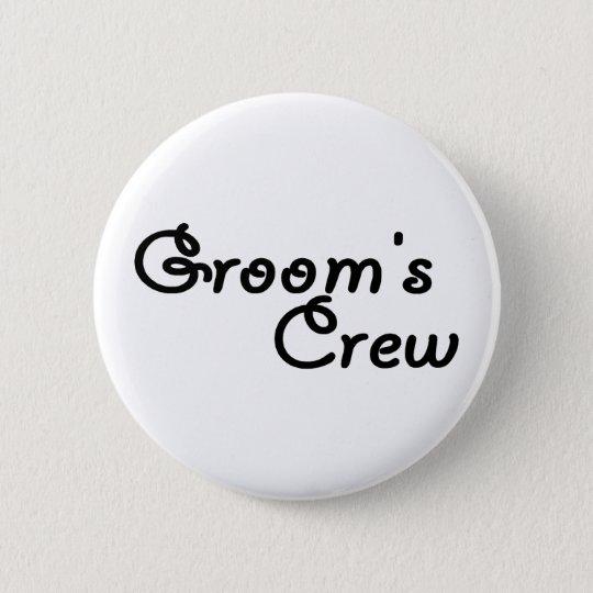 Groom's Crew (Blk) Pinback Button