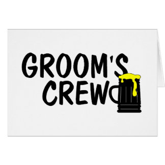 Grooms Crew Card