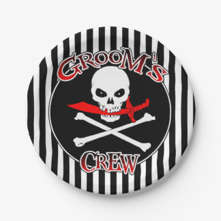 Groom's Crew Flask Paper Plates