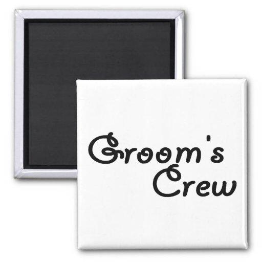 Grooms Crew Magnet