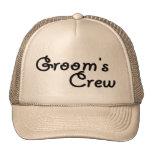 Grooms Crew Mesh Hats