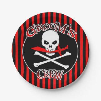 Groom's Crew Paper Plates