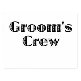 Groom's Crew Postcard