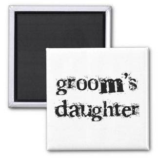 Groom's Daughter Black Text Refrigerator Magnets