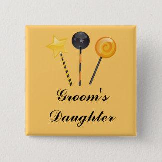 """""""Groom's Daughter"""" - Halloween Lollipops Button"""
