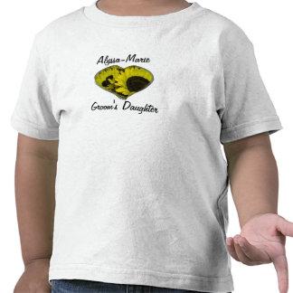 """Groom's Daughter"" - Yellow Sunflower Heart T Shirt"