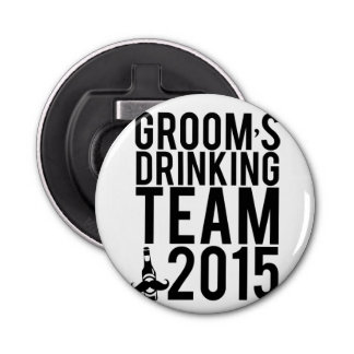 Groom's drinking team 2015 bottle opener