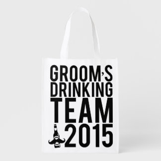 Groom's drinking team 2015 reusable grocery bag
