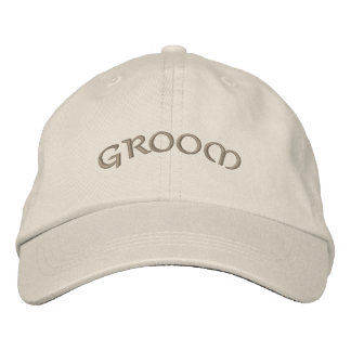 Groom's Embroidered Ball Cap Embroidered Baseball Caps
