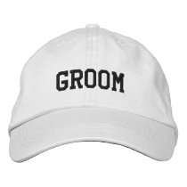 Grooms Embroidered Cap