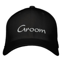Groom's Embroidered Wedding Cap