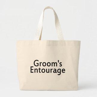 Grooms Entourage Black Canvas Bags
