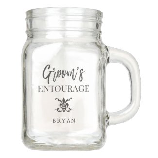 Groom's Entourage | Groomsmen Mason Jar