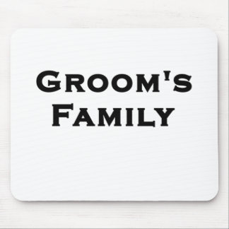 groom's family wedding gear mouse pad