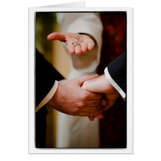 Grooms Gay Wedding Commitment Ceremony LOVE Card