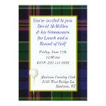 "Groom's Golf Party Invitation 5"" X 7"" Invitation Card"