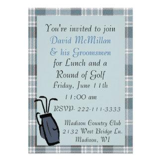 Groom's Golf Party Invitation