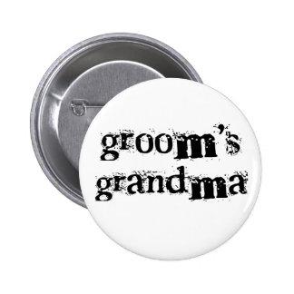 Groom's Grandma Black Text 2 Inch Round Button
