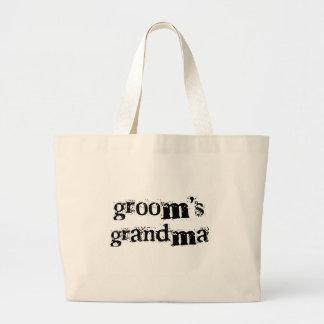 Groom's Grandma Black Text Tote Bag
