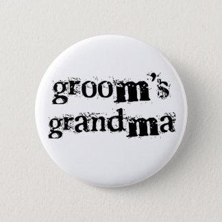 Groom's Grandma Black Text Button