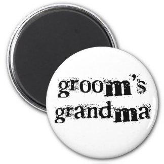 Groom's Grandma Black Text Refrigerator Magnet