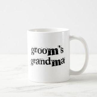 Groom's Grandma Black Text Classic White Coffee Mug