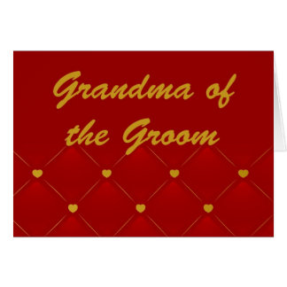Groom's Grandma (r/g) Card
