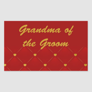 Groom's Grandma (r/g) Rectangular Sticker