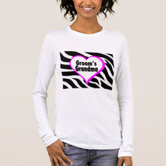 Grooms Grandma Zebra Stripes Long Sleeve T-Shirt