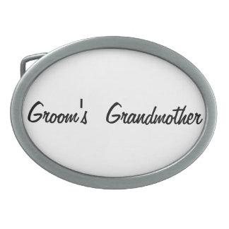 Groom's grandmother oval belt buckle