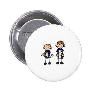 Grooms in Love Pinback Button