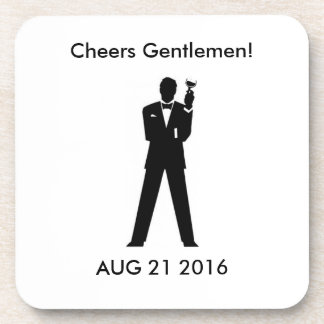 Groom's Memento Drink Coaster